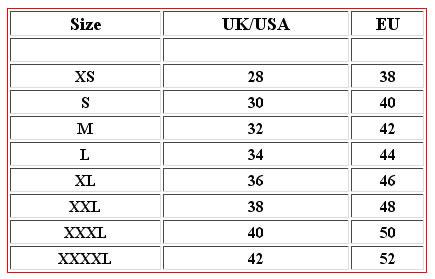 Mens size chart conversion desigual size guide canada for Mens dress shirt sizes conversion