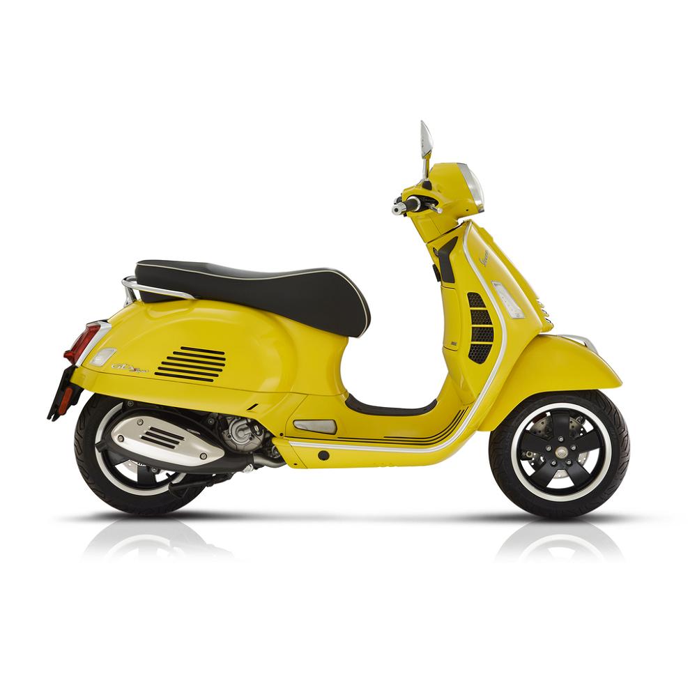 yellow vespa gts super 300 hpe scooter crazy. Black Bedroom Furniture Sets. Home Design Ideas