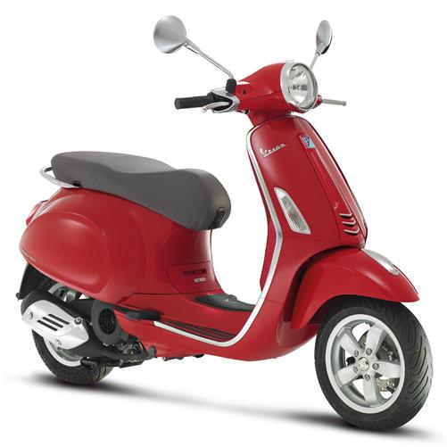 red vespa primavera 50cc scooter crazy. Black Bedroom Furniture Sets. Home Design Ideas