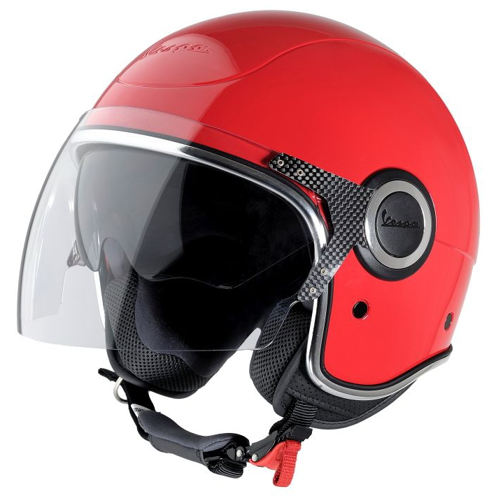 vespa vj helmet in red scooter crazy ltd. Black Bedroom Furniture Sets. Home Design Ideas