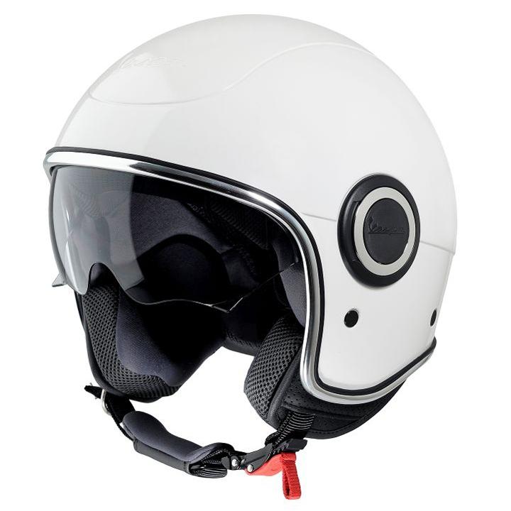 white vespa vj1 helmet scooter crazy ltd. Black Bedroom Furniture Sets. Home Design Ideas